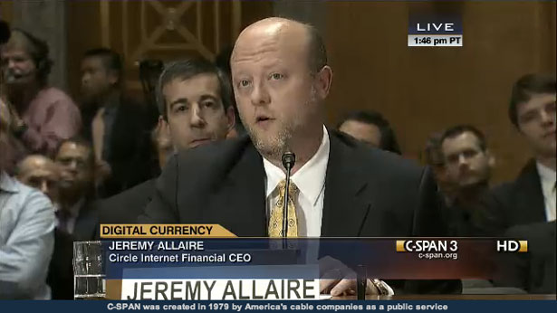 Senate Committee Hearing Jeremy Allaire Circle