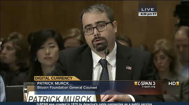 Senate Committee Hearing Patrick Murck Bitcoin Foundation