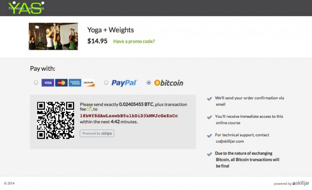 Bitcoin Screenshot - YAS Fitness